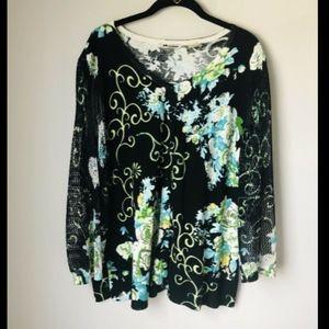 Nygard Collection Embellished Cardigan - XL